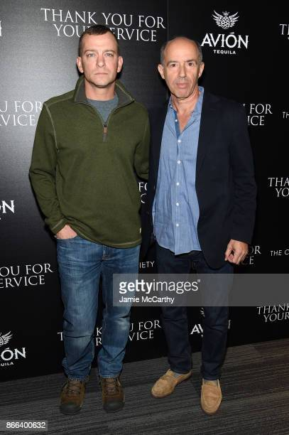 Adam Schumann and Jon Kilik attend a screening of DreamWorks and Universal Pictures' 'Thank You for Your Service' hosted by The Cinema Society at The...