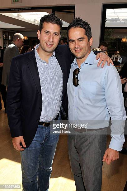 Adam Schweitzer and Dar Rollins attend the ICM Partners PreEmmy Brunch at Fig Olive Melrose Place on September 22 2012 in West Hollywood California