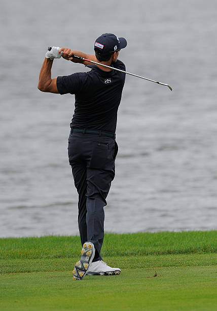 Adam Scott 2nd shot 3rd hole during the final round of the Arnold Palmer Invitational at
