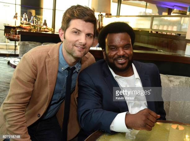 Adam Scott and Craig Robinson attend the FOX 2017 Summer TCA Tour after party on August 8 2017 in West Hollywood California