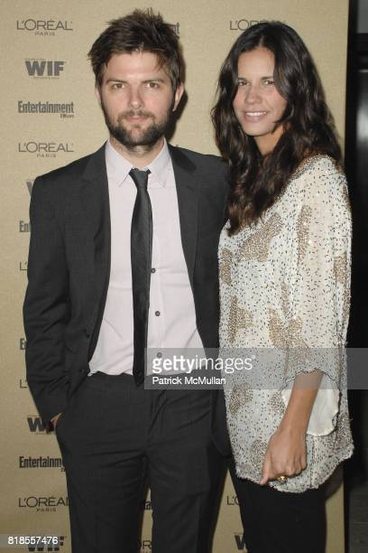 Adam Scott and Naomi Sablan attend The 2010 Entertainment Weekly and Women In Film PreEmmy Party Sponsored by L'Oreal Paris at The Sunset Marquis...