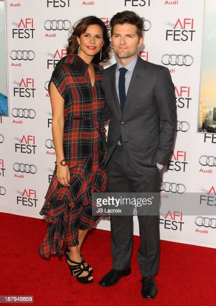Adam Scott and Naomi Sablan attend the AFI FEST 2013 Presented By Audi 'The Secret Life Of Walter Mitty' Premiere at TCL Chinese Theatre on November...