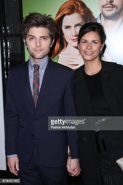 Adam Scott and Naomi Sablan attend UNIVERSAL PICTURES and SPYGLASS ENTERTAINMENT Present the World Premiere of LEAP YEAR at Directors Guild of...