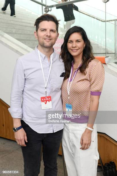 Adam Scott and Naomi Scott attend Hammer Museum KAMP 2018 at Hammer Museum on May 20 2018 in Los Angeles California