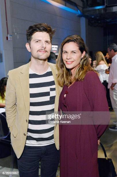 Adam Scott and Naomi Scott attend PS ARTS' the pARTy 2017 at NeueHouse Hollywood on May 4 2017 in Los Angeles California