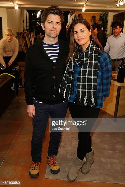 Adam Scott and Naomi Scott attend The Variety Studio At Sundance Presented By Dockers Day 1 on January 24 2015 in Park City Utah