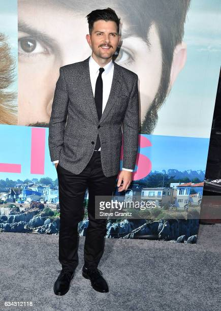 Adam Scott arrive at the Premiere Of HBO's 'Big Little Lies' at TCL Chinese Theatre on February 7 2017 in Hollywood California