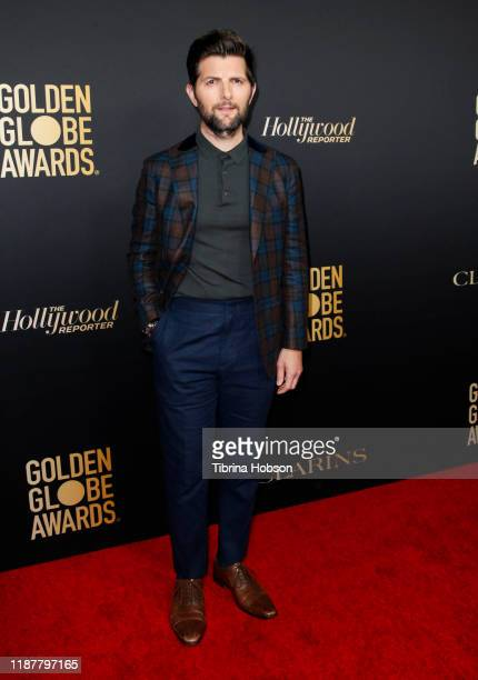 Adam Scott attends the HFPA and THR Golden Globe Ambassador Party at Catch LA on November 14 2019 in West Hollywood California