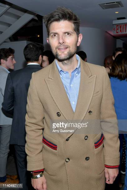 Adam Scott attends the launch of the Jane Club in Larchmont Village on April 04 2019 in Los Angeles California