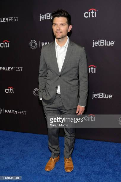 """Adam Scott attends The Paley Center for Media's 2019 PaleyFest LA """"Star Trek: Discovery"""" and """"The Twilight Zone"""" at Dolby Theatre on March 24, 2019..."""