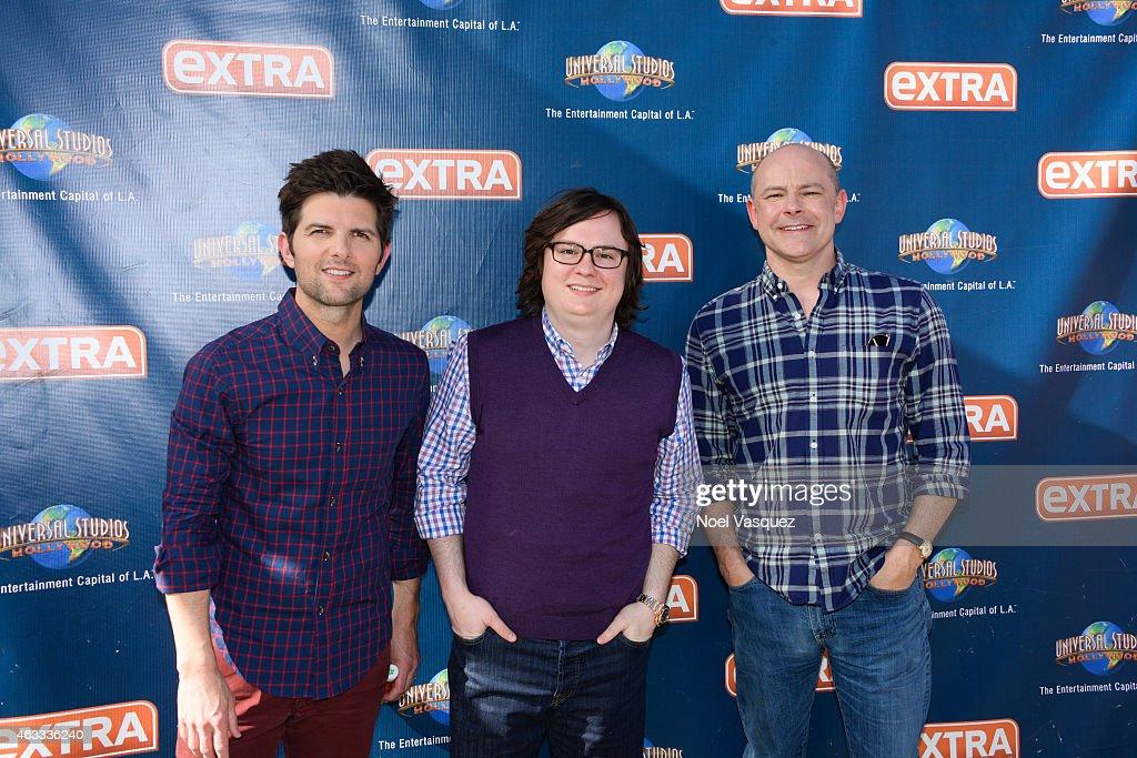 "Rob Corddry, Clark Duke And Adam Scott On ""Extra"""