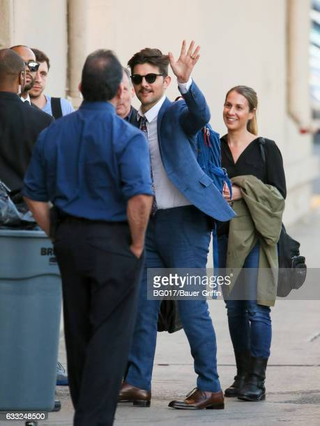 Adam Scott is seen at 'Jimmy Kimmel Live' on January 31 2017 in Los Angeles California