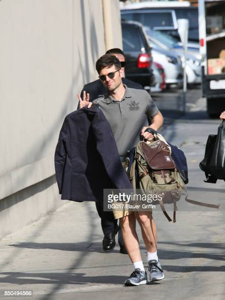 Adam Scott is seen at 'Jimmy Kimmel Live' on September 20 2017 in Los Angeles California