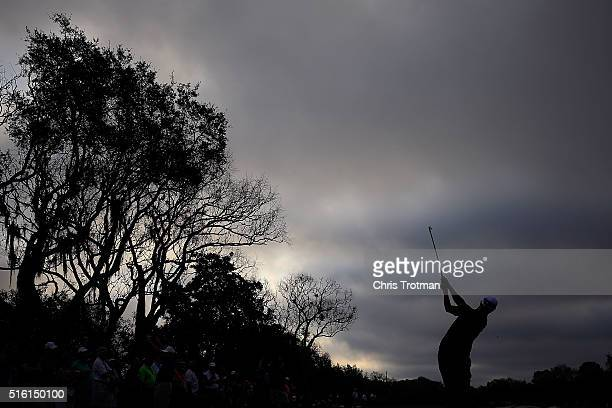 Adam Scott of Australia hits his tee shot on the 11th hole during the first round of the Arnold Palmer Invitational Presented by MasterCard at Bay...