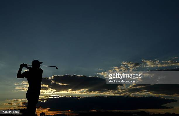 Adam Scott of Australia hits his tee shot on the fifth hole during the second round of the US Open at Oakmont Country Club on June 17 2016 in Oakmont...