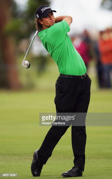 Adam Scott of Australia in action during day one of the MasterCard Masters at Huntingdale Golf Course December 8, 2005 in Melbourne, Australia.
