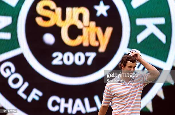 Adam Scott of Australia on the par four 18th hole during the first round of the Nedbank Golf on the Gary Player Course on November 29 2007 in Sun...