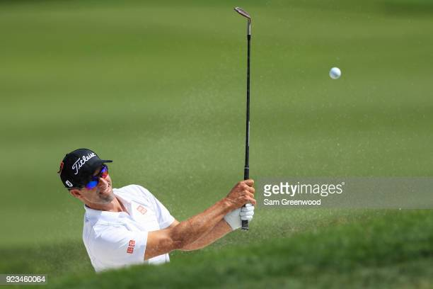 Adam Scott of Australia plays his shot at the fourth hole during the second round of the Honda Classic at PGA National Resort and Spa on February 23...