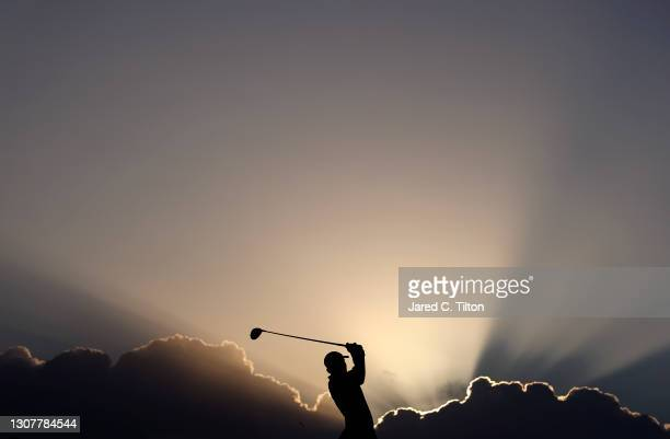 Adam Scott of Australia plays his shot from the tenth tee during the first round of The Honda Classic at PGA National Champion course on March 18,...