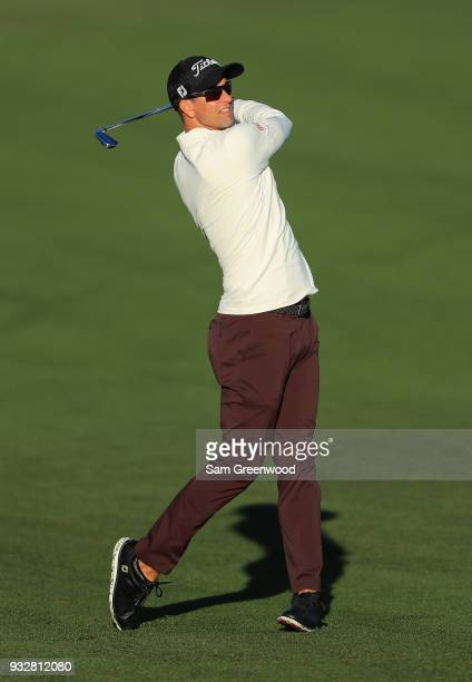Adam Scott of Australia plays his shot on the 11th hole during the second round at the Arnold Palmer Invitational Presented By MasterCard at Bay Hill...