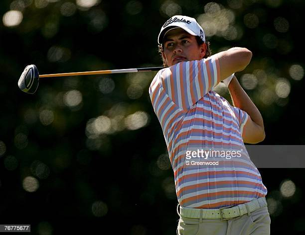 Adam Scott of Australia plays the 5th hole during the third round of the TOUR Championship the final event of the new PGA TOUR Playoffs for the...