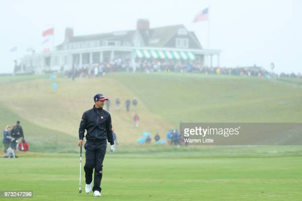 Adam Scott of Australia walks during a practice round prior to the 2018 US Open at Shinnecock Hills Golf Club on June 13 2018 in Southampton New York
