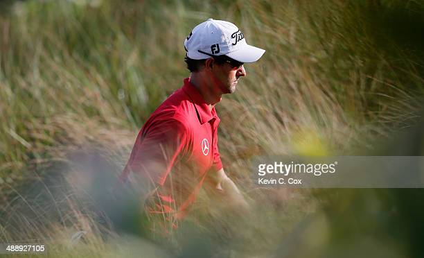 Adam Scott of Australia walks to the 12th hole during the second round of THE PLAYERS Championship on The Stadium Course at TPC Sawgrass on May 9,...