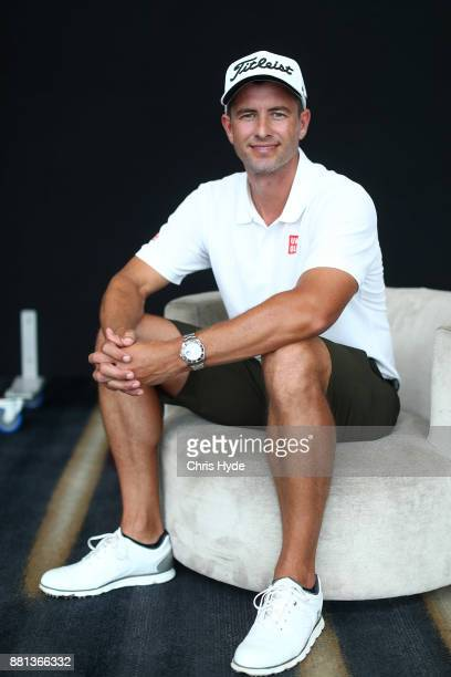 Adam Scott poses for a portrait ahead of the Australian PGA Championships at RACV Royal Pines Resort on November 29 2017 in Gold Coast Australia