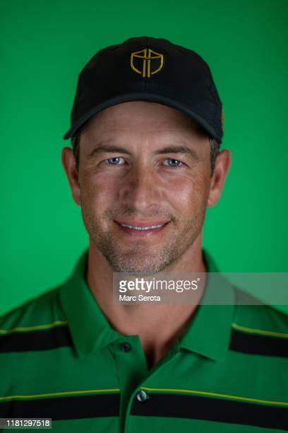 Adam Scott poses for photos for the upcoming Presidents Cup Tournament prior to the start of the TOUR Championship at East Lake Golf Club on August...