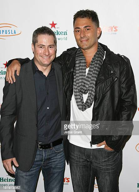 Adam Selkowitz and Dennis DeSantis arrive at the 4th Annual Get Lucky For Lupus Poker Tournament Benefiting Lupus LA held at the Peterson Automotive...