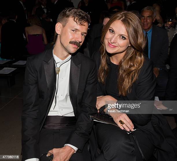 Adam Selman and guest attend the 2015 amfAR Inspiration Gala New York at Spring Studios on June 16, 2015 in New York City.
