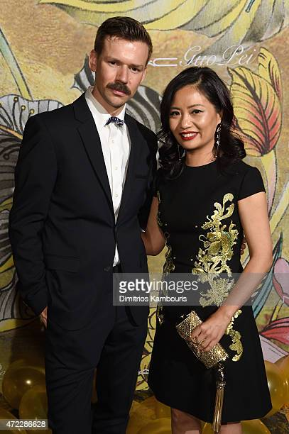 Adam Selman and Guo Pei attend the MAC x Guo Pei dinner on May 5 2015 in New York City