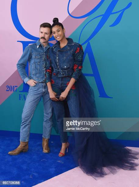 Adam Selman and Imaan Hammam attend the 2017 CFDA Fashion Awards at Hammerstein Ballroom on June 5, 2017 in New York City.