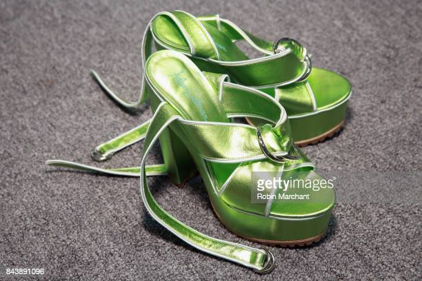 Adam Selman heels backstage before the Adam Selman fashion show during New York Fashion Week Presented By MADE at Gallery 2 Skylight Clarkson Sq on...