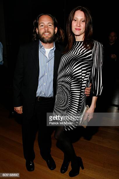 Adam Sender and Lenore Sender attend Jeff Wall Exhibition Dinner at MoMa on February 20 2007 in New York City