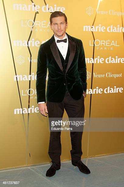 Adam Senn attends 'Marie Claire Prix de la moda' awards 2013 photocall at Residence of France on November 21 2013 in Madrid Spain