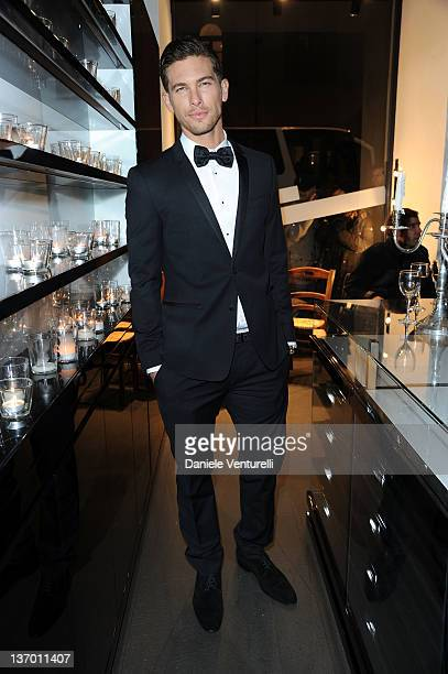 Adam Senn attends the Dolce Gabbana 'La Bella Estate' Cocktail Launch during Milan Fashion Week Menswear Autumn/Winter 2012 on January 14 2012 in...