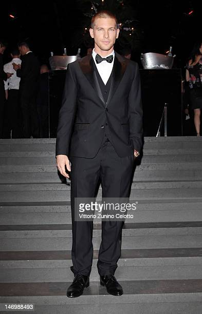 Adam Senn attends the Dolce Gabbana party as part of Milan Fashion Week Menswear Spring/Summer 2013 on June 24 2012 in Milan Italy