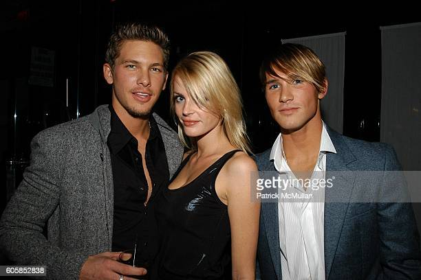 Adam Senn Elvira Egmon and Tyler Wood attend ITALO ZUCCHELLI and CALVIN KLEIN COLLECTION Host a Dinner Celebrating VMan and the Boys of Wilhelmina...