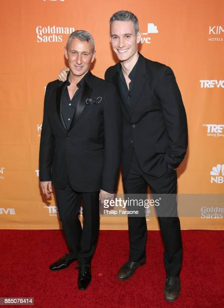 Adam Shankman and Frank Meli attend The Trevor Project's 2017 TrevorLIVE LA Gala at The Beverly Hilton Hotel on December 3 2017 in Beverly Hills...