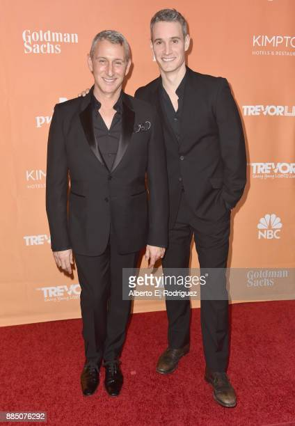 Adam Shankman and Frank Meli attend The Trevor Project's 2017 TrevorLIVE LA on December 3 2017 in Beverly Hills California