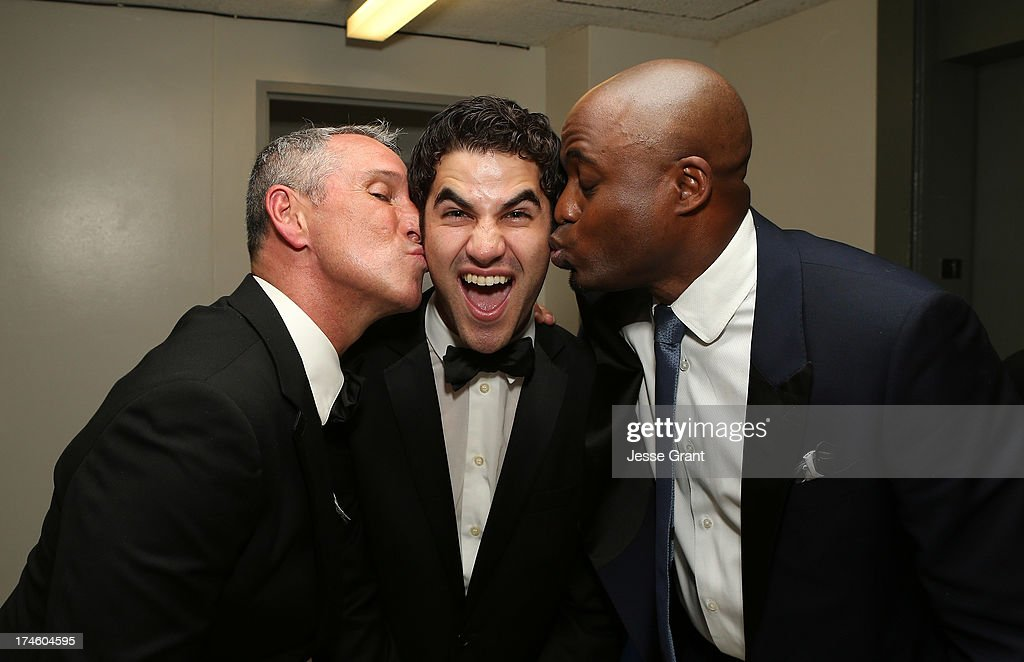 Adam Shankman, Darren Criss and Wayne Brady attend the Dizzy Feet Foundation Third 'Celebration of Dance' Gala at The Music Center on July 27, 2013 in Los Angeles, California.