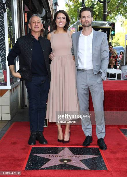 Adam Shankman Mandy Moore and Shane West a ceremony honoring Mandy Moore with a star on the Hollywood Walk Of Fame on March 25 2019 in Hollywood...
