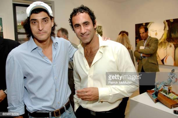 Adam Shugar and Darius Yektai attend Opening Reception for DARIUS YEKTAI All About Love at ThirtySix at Leila TaghiniaMilani Heller Gallery on...