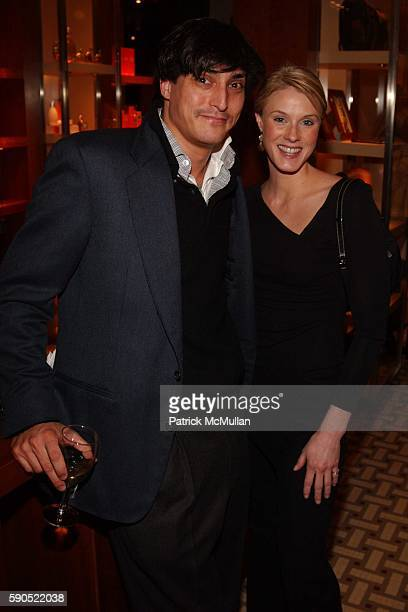 Adam Shugar and Frances Leidy attend A kickoff for An Enchanted Evening a Gala for the School of American Ballet at Hermes on January 18 2005 in New...