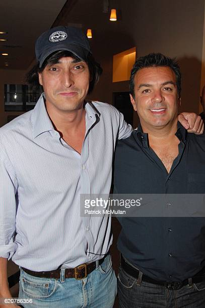 Adam Shugar and Ronnie DeMichael attend SPLASHLIGHT SOHO grand opening at Splashlight Soho NYC on July 29 2008