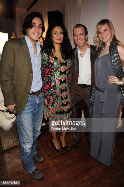 Adam Shugar Donna D'Cruz Tom Silverman and Katey Bassano attend VOGUE and BMW party to celebrate the new 2009 BMW 7 Series with Free Arts NYC at 122...