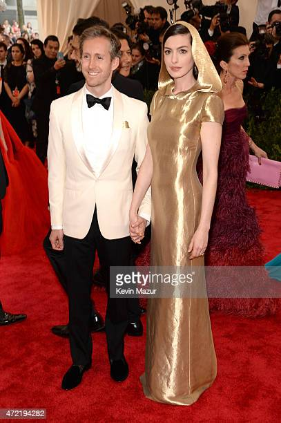 Adam Shulman and Anne Hathaway attend the 'China Through The Looking Glass' Costume Institute Benefit Gala at Metropolitan Museum of Art on May 4...