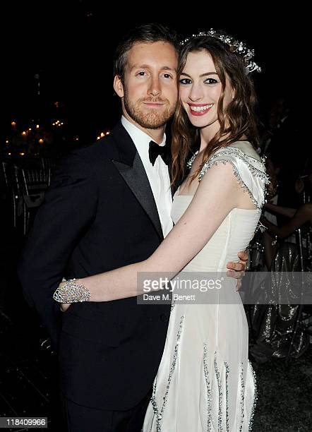 Adam Shulman and Anne Hathaway attend The White Fairy Tale Love Ball hosted by Valentino Garavani and Natalia Vodianova in aid of the Naked Heart...