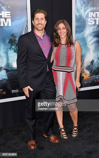 Adam Shuty and Sarah Smith attend the 'Into The Storm' premiere at AMC Lincoln Square Theater on August 4 2014 in New York City